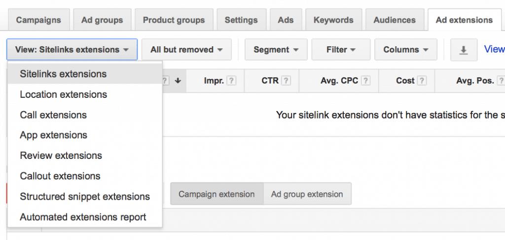 create a sitelink